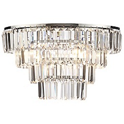 Litecraft - Prism 4 Tier  Crystal Flush Ceiling Light - Chrome & Glass
