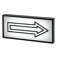 Litecraft - Arrow Wall Light Box with Black Frame - Black