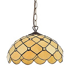 Litecraft - Tiffany Jewel 12 Inch Ceiling Easy to Fit Pendant Shade - Honey