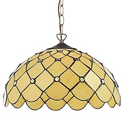 Litecraft - Tiffany Jewel 16 Inch Ceiling Easy to Fit Pendant Shade - Honey