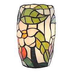 Litecraft - Tiffany Floral Vase Table Lamp - Multi Coloured