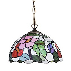 Litecraft - Tiffany Floral 12 inch Ceiling Pendant Shade - Multi Coloured