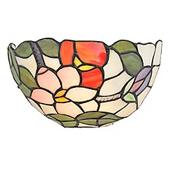 Litecraft - Tiffany Floral Wall Light - Multicolour