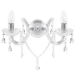 Litecraft - Marie Therese 2 Light Wall Light Chandelier - Chrome