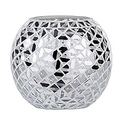 Litecraft - Mosaic Mirrored Table Lamp - Chrome