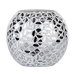 Litecraft - Mosaic Mirrored Table Lamp - Chrome