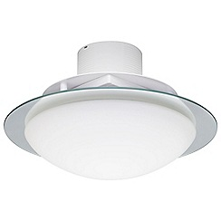 Litecraft - 3 Light Flush Bathroom Ceiling Light with Extractor Fan - Opal