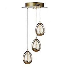 Litecraft - Gold Tegg 3 light ceiling light cluster pendant