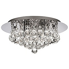 Litecraft - Galaxy Style 4 Light Circular Flush Ceiling Light - Chrome