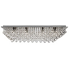 Litecraft - Galaxy Style 8 Light Rectangular Flush Ceiling Light - Chrome