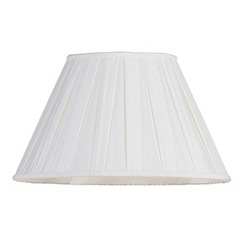 Litecraft - 16 Inch Knife Pleat Easy to Fit Shade - Cream