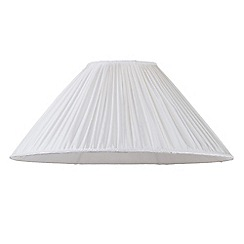 Litecraft - 18 Inch Pleated Easy to Fit Shade - Cream