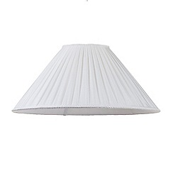 Litecraft - 16 Inch Pleated Easy to Fit Shade - Cream