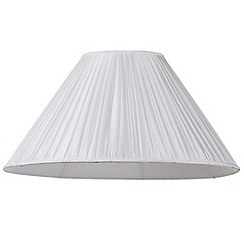 Litecraft - 20 Inch Easy to Fit Shade with Small Pleats - Ivory