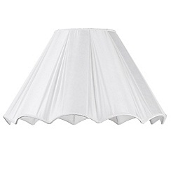 Litecraft - 22 Inch Scallop Easy to Fit Shade - Cream