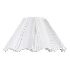 Litecraft - 21 Inch Scallop Easy to Fit Shade - Cream