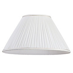 Litecraft - 19 Inch Oval Pleated Easy to Fit Shade with Gold Trim - Cream