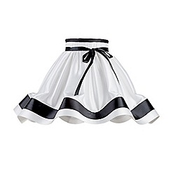 Litecraft - 16 Inch Skirt Easy to Fit Shade with Black Stripes & Bow - Black & White