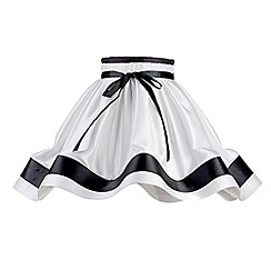 Litecraft - 18 Inch Skirt Easy to Fit Shade with Black Stripes & Bow - Black & White