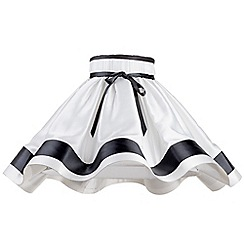 Litecraft - 20 Inch Skirt Easy to Fit Shade with Black Stripes & Bow - Black & White