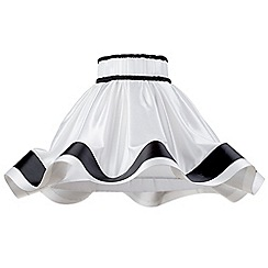 Litecraft - 20 Inch Skirt Easy to Fit Shade with Black Stripes - Black & White