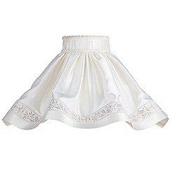 Litecraft - 20 Inch Skirt Easy to Fit Shade with Floral Trim - Cream