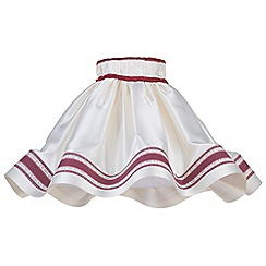 Litecraft - 20 Inch Skirt Easy to Fit Shade with Red Stripe - Cream