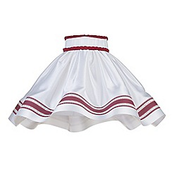 Litecraft - 20 Inch Skirt Easy to Fit Shade with Red Stripe - White
