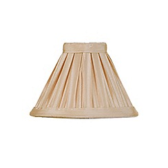 Litecraft - 5 Inch Candle Bulb Box Pleat Shade - Sand