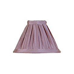 Litecraft - 5 Inch Candle Bulb Box Pleat Shade - Grape