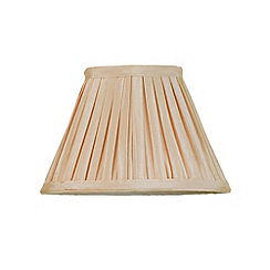 Litecraft - 8 Inch Easy to Fit Box Pleat Shade - Sand