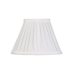 Litecraft - 8 Inch Easy to Fit Box Pleat Shade - Ivory