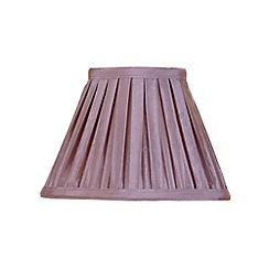 Litecraft - 8 Inch Easy to Fit Box Pleat Shade - Grape