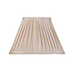 Litecraft - 10 Inch Easy to Fit Box Pleat Shade - Sand
