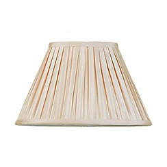 Litecraft - 12 Inch Easy to Fit Box Pleat Shade - Sand