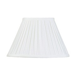 Litecraft - 12 Inch Easy to Fit Box Pleat Shade - Ivory