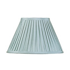 Litecraft - 12 Inch Easy to Fit Box Pleat Shade - Duck Egg
