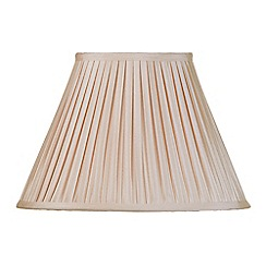 Litecraft - 14 Inch Easy to Fit Box Pleat Shade - Sand