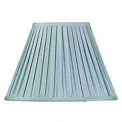 Litecraft - 14 Inch Easy to Fit Box Pleat Shade - Duck Egg