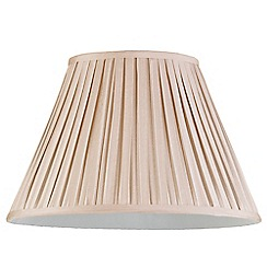 Litecraft - 16 Inch Easy to Fit Box Pleat Shade - Sand