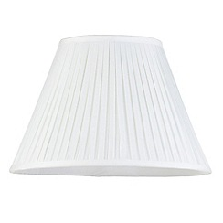 Litecraft - 16 Inch Easy to Fit Box Pleat Shade - Ivory