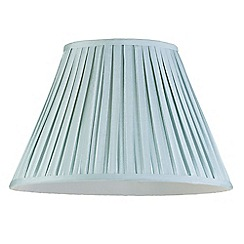 Litecraft - 16 Inch Easy to Fit Box Pleat Shade - Duck Egg