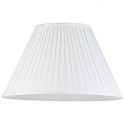 Litecraft - 20 Inch Easy to Fit Box Pleat Shade - Ivory