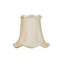 Litecraft - 5 Inch Candle Bulb Scalloped Shade - Sand