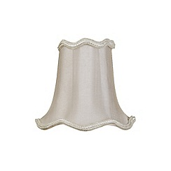Litecraft - 5 Inch Candle Bulb Scalloped Shade - Soft Grey