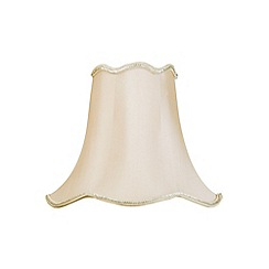 Litecraft - 12 Inch Easy to Fit Scalloped Shade - Sand