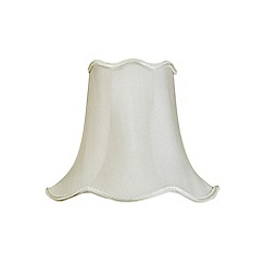 Litecraft - 12 Inch Easy to Fit Scalloped Shade - Soft Grey