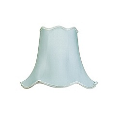 Litecraft - 12 Inch Easy to Fit Scalloped Shade - Duck Egg