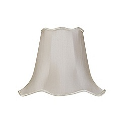 Litecraft - 14 Inch Easy to Fit Scalloped Shade - Soft Grey