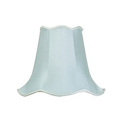 Litecraft - 14 Inch Easy to Fit Scalloped Shade - Duck Egg